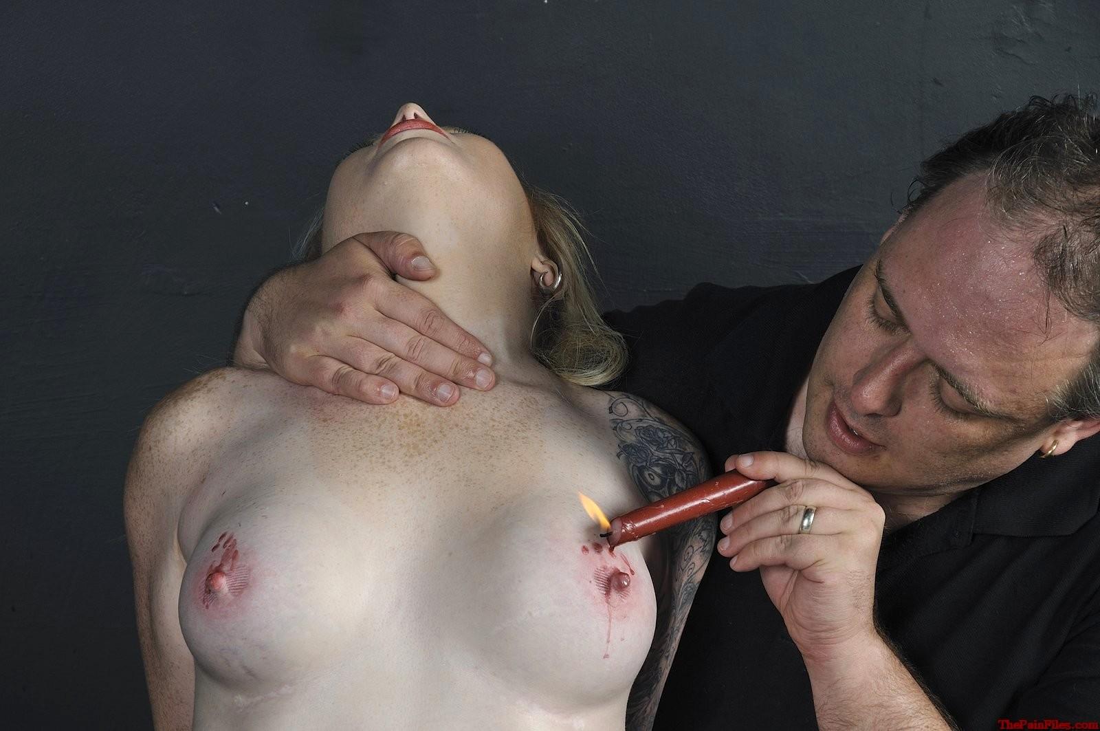 Three Naked Girl Suffers Nipple Twisting