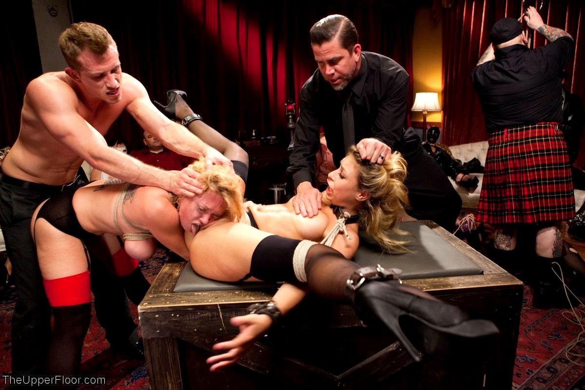 Anal Bdsm Threesome Sex In Upper Floor