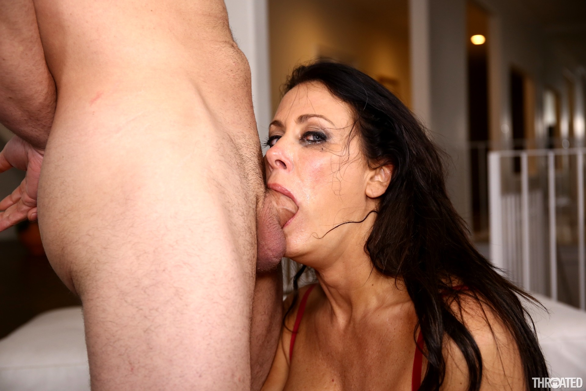 Big tits babe throated and fucked by bbc