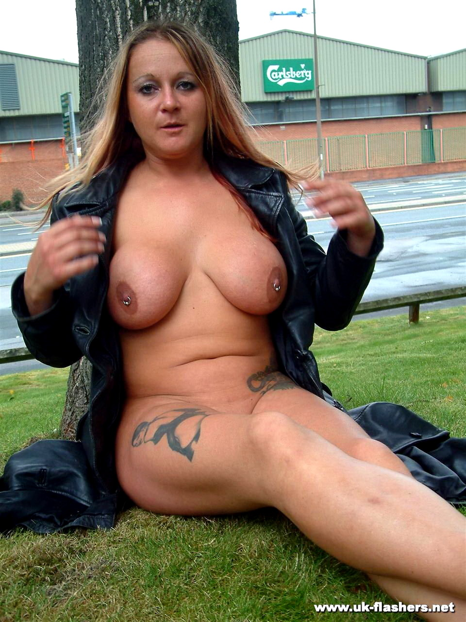 Busty milf ginas public nudity and english flashers outdoors 6