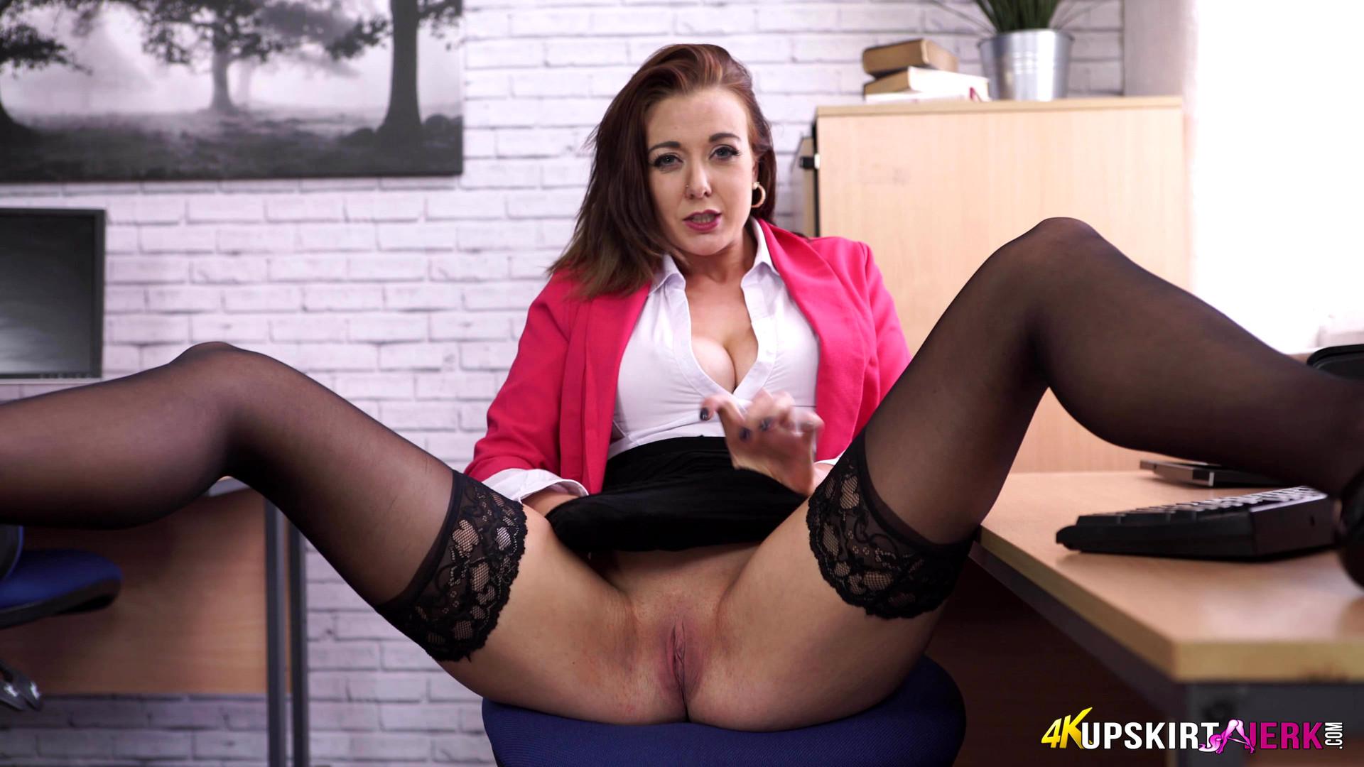 Upskirt secretaries no panties videos #5
