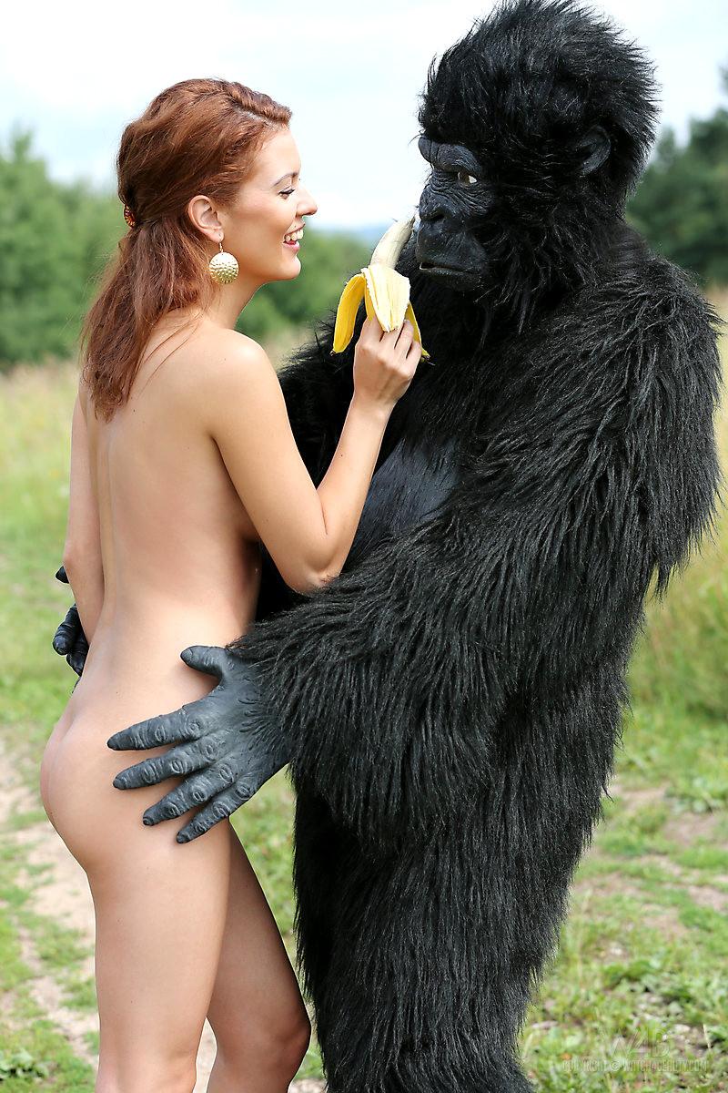 Sex girl with a gorilla #6